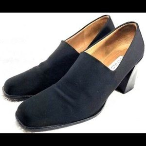 Donald J. Pliner Navy Stretchy  Block Heels